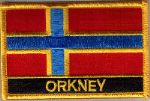 Orkney Islands Embroidered Flag Patch, style 09.